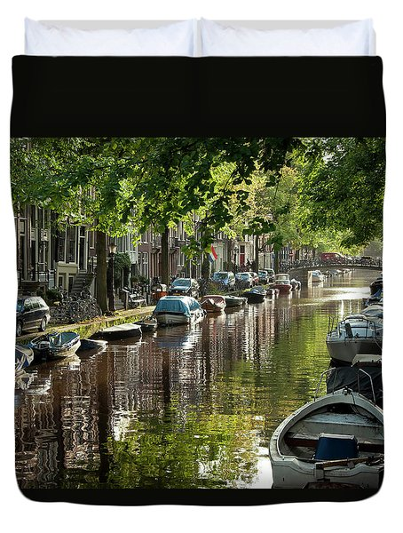 Amsterdam Canal Duvet Cover by Joan Carroll