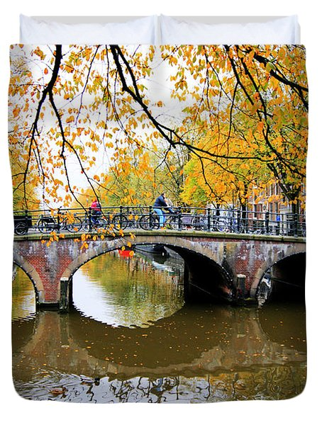 Amsterdam Canal Reflections Duvet Cover