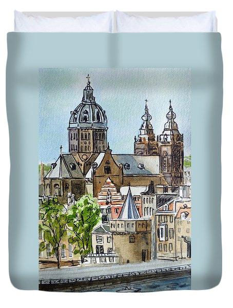 Amsterdam Holland Duvet Cover by Irina Sztukowski