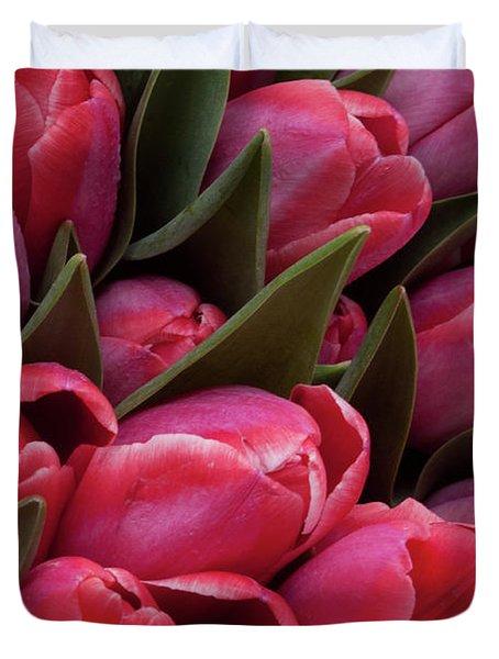 Amsterdam Red Tulips Duvet Cover