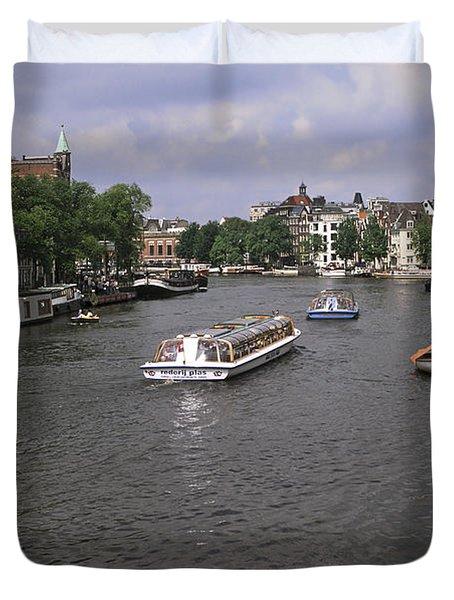 Amsterdam Water Scene Duvet Cover