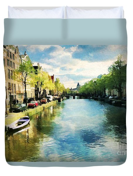 Amsterdam Waterways Duvet Cover