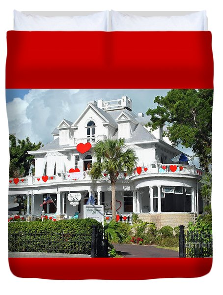 Duvet Cover featuring the photograph Amsterdams Curry Mansion Inn by Jost Houk