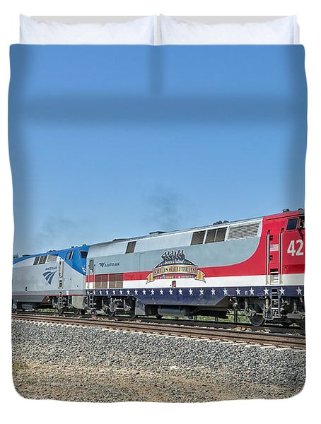 Amtrak 42  Veteran's Special Duvet Cover