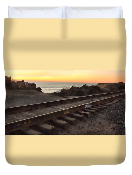 Amtrak On The Pacific Duvet Cover