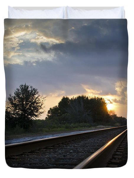 Duvet Cover featuring the photograph Amtrak Railroad System by Carolyn Marshall
