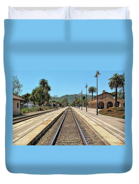 Amtrak Station, Santa Barbara, California Duvet Cover