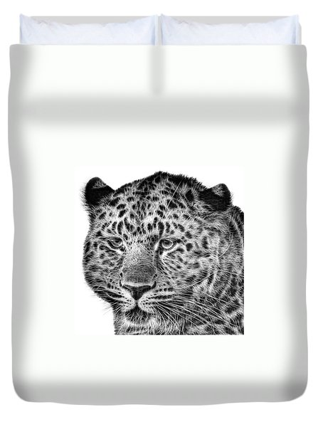 Amur Leopard Duvet Cover by John Edwards