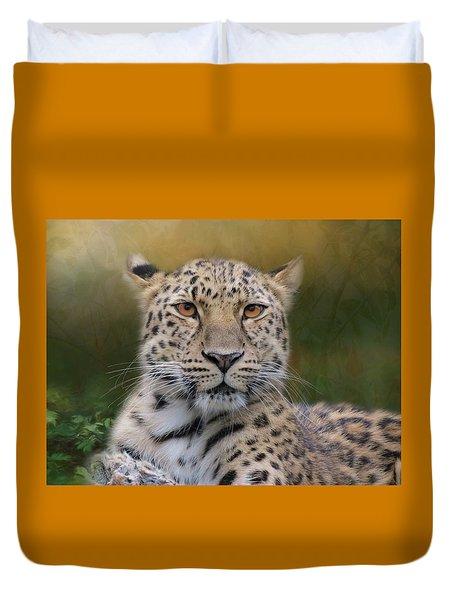 Duvet Cover featuring the photograph Amur Leopard by Patti Deters