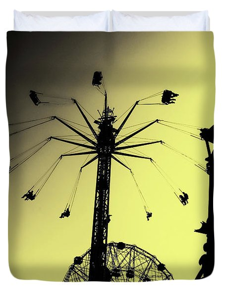 Amusements In Silhouette Duvet Cover
