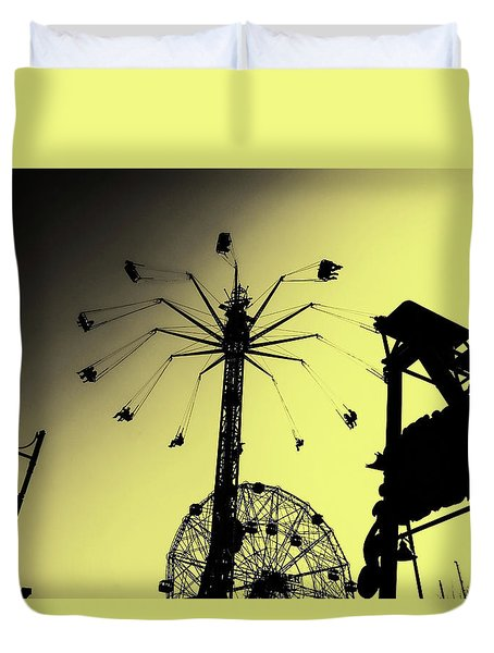 Amusements In Silhouette Duvet Cover