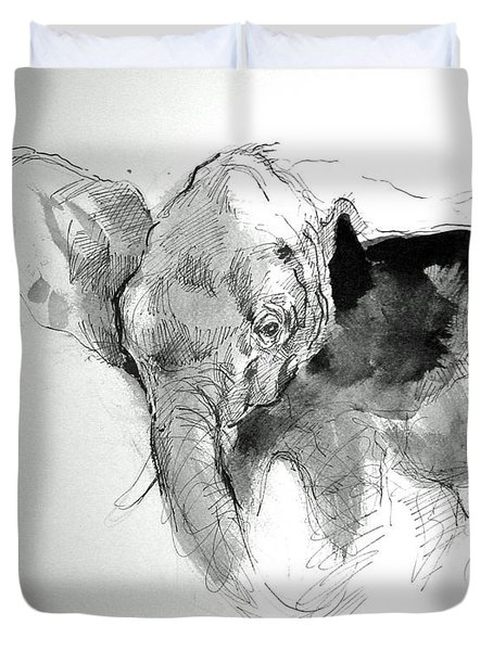Amy The Saved Elephant Duvet Cover