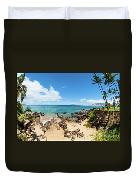 Duvet Cover featuring the photograph Amzing Beach In Hawaii Islands by Micah May