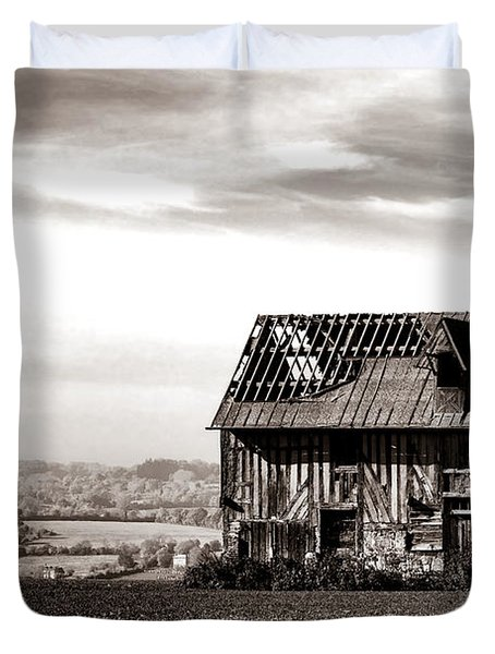 An Abandoned Farmhouse In Normandy Duvet Cover