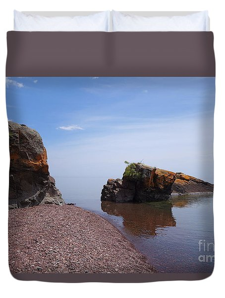 Duvet Cover featuring the photograph An Absolutely Superior Day by Sandra Updyke