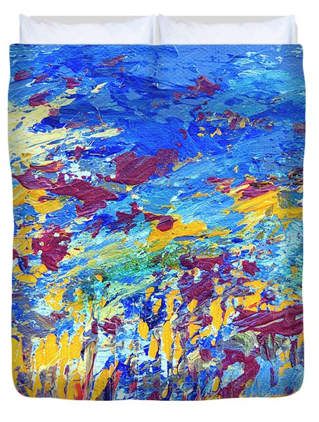 An Abstract Vision Under The Sea Duvet Cover