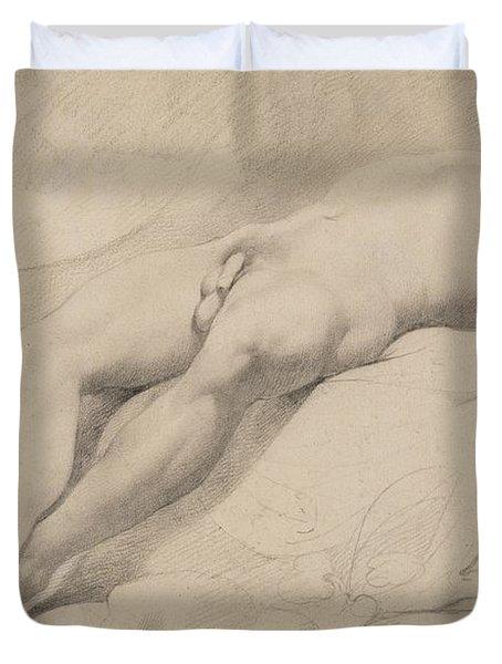 An Academy Duvet Cover by John Hamilton Mortimer