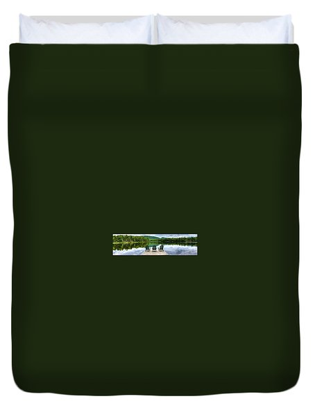 Duvet Cover featuring the photograph An Adirondack Panorama by David Patterson