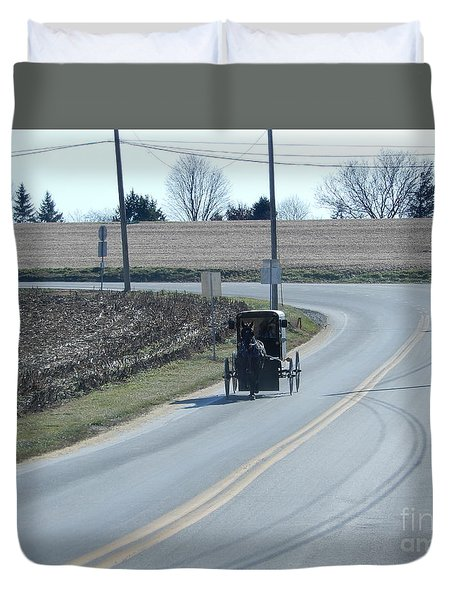 An Afternoon Buggy Ride Duvet Cover
