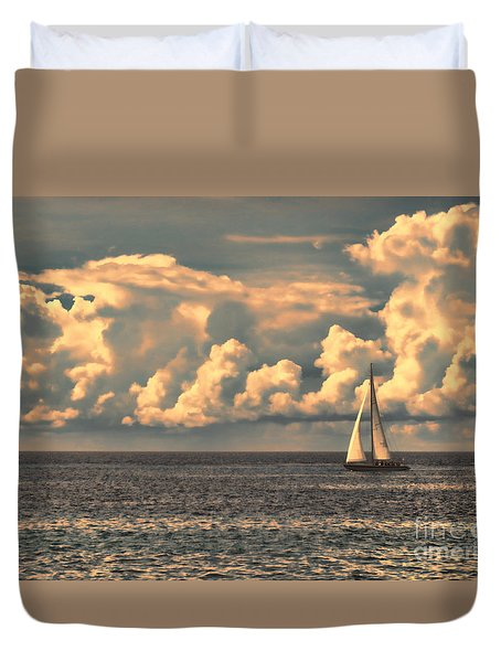 An Afternoon Sailing Duvet Cover by Steven Parker