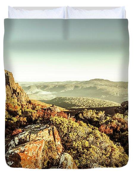 An Alpine Morning Duvet Cover