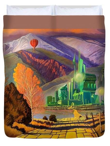 Duvet Cover featuring the painting Oz, An American Fairy Tale by Art West