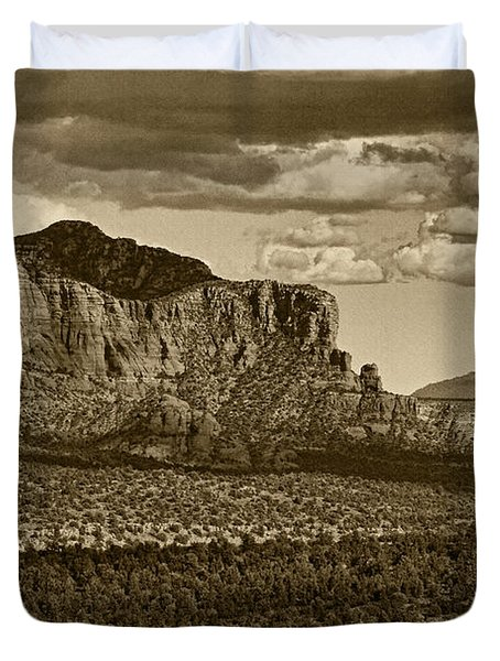 An Ancient View Tint Duvet Cover