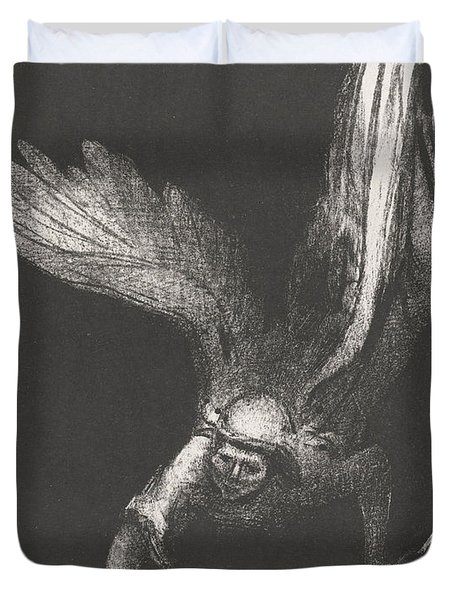 An Angel With A Chain In His Hands Duvet Cover