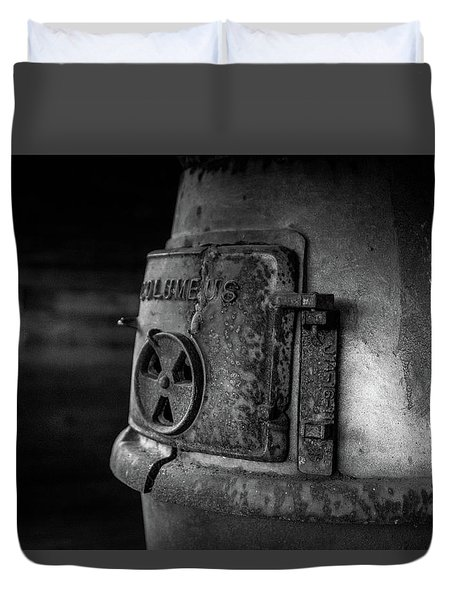 Duvet Cover featuring the photograph An Antique Stove by Doug Camara