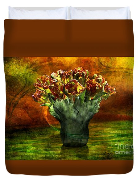 An Armful Of Tulips Duvet Cover by Johnny Hildingsson