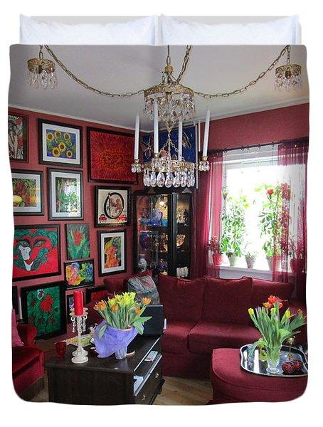 An Artists Livingroom Duvet Cover