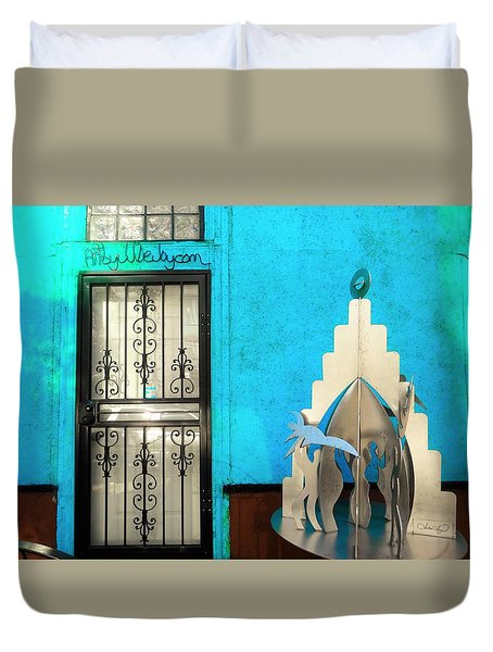 An Artsy House In Brooklyn New York  Duvet Cover