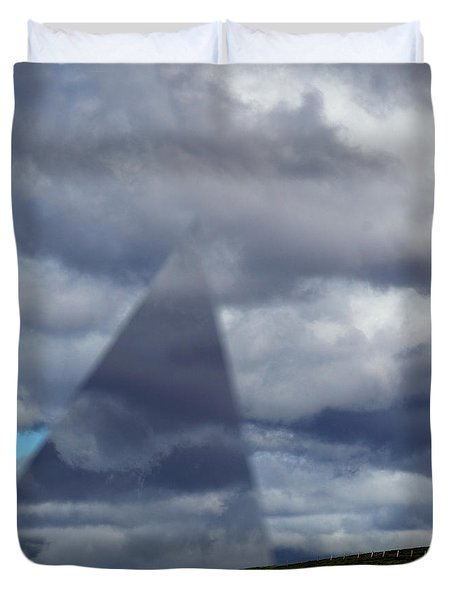 An Aspect Of Time Clouds Dimension Duvet Cover by Wernher Krutein