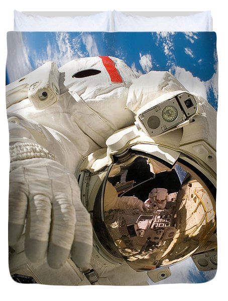 An Astronaut Mission Specialist Duvet Cover by Stocktrek Images
