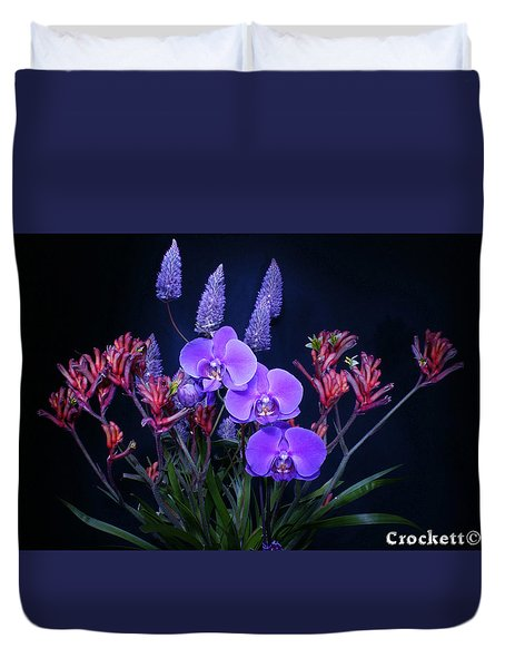 An Aussie Flower Arrangement Duvet Cover