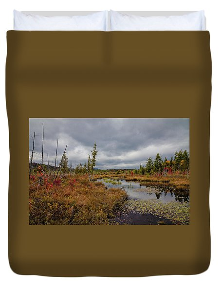 Duvet Cover featuring the photograph An Autumn Afternoon On Raquette Lake by David Patterson