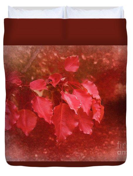 Duvet Cover featuring the photograph An Autumn Bunch by Elaine Teague