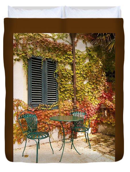 An Autumn Corner Duvet Cover by Rae Tucker