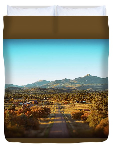 An Autumn Evening In Pagosa Meadows Duvet Cover