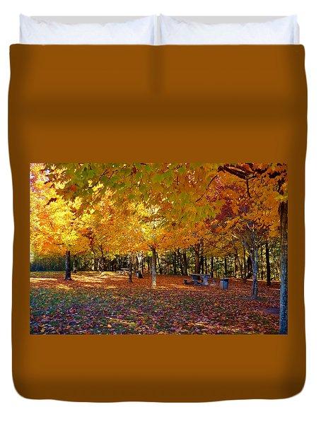 An Autumn Place To Rest Duvet Cover