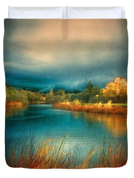 An Autumn Storm Duvet Cover