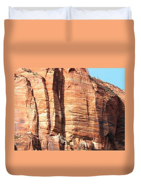 An Eagle Soars Duvet Cover by Will Borden