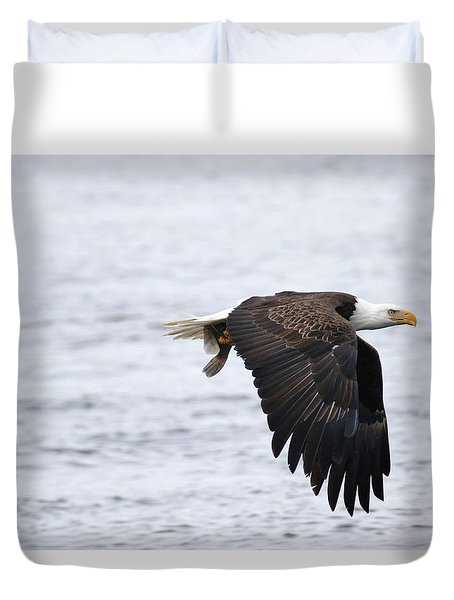 An Eagles Catch 11 Duvet Cover by Brook Burling