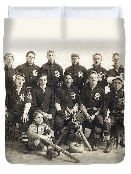 An Early Sf Baseball Team Duvet Cover by American School