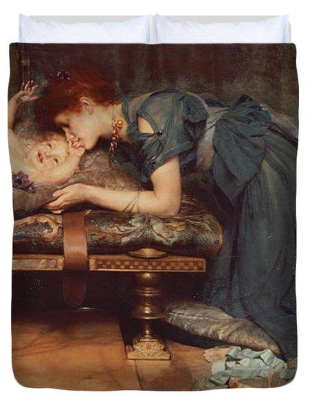 An Earthly Paradise Duvet Cover by Sir Lawrence Alma-Tadema