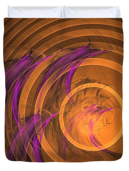 An Echo From The Past - Abstract Art Duvet Cover