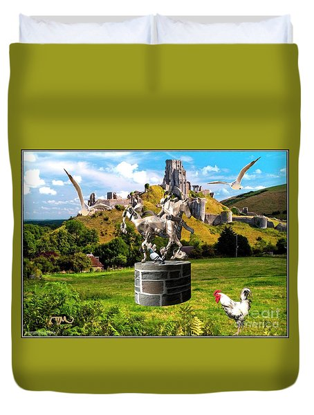 An Echo Of Past Time Duvet Cover