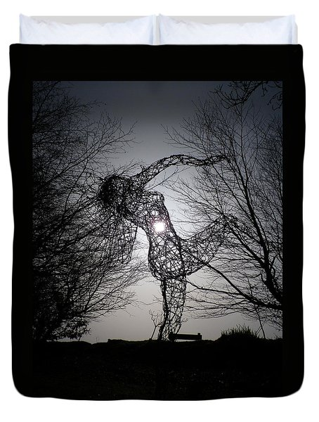 An Eclipse Of The Heart? Duvet Cover by Richard Brookes