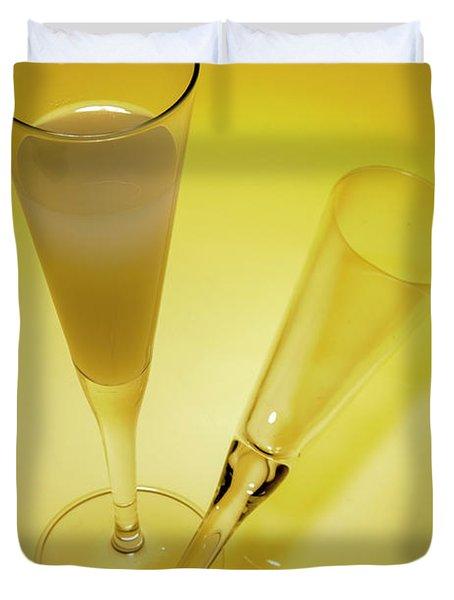An Elegant Glass Of Grapefruit Juice Duvet Cover