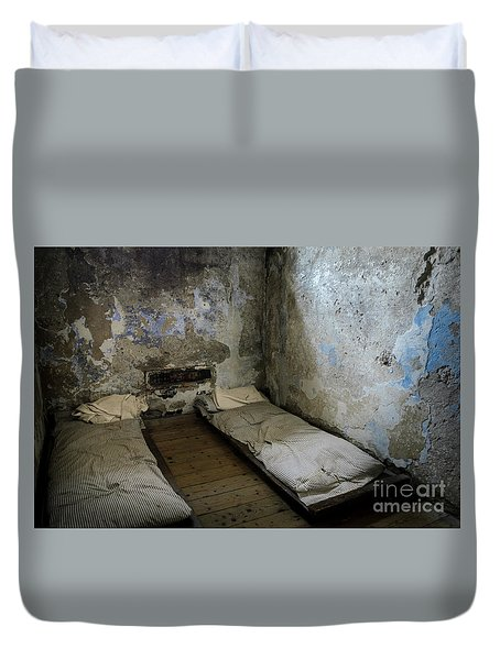 Duvet Cover featuring the photograph An Empty Cell In Cork City Gaol by RicardMN Photography